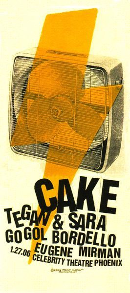 Concert Flyer: Cake - The Cake Unlimited Sunshine Tour 2006